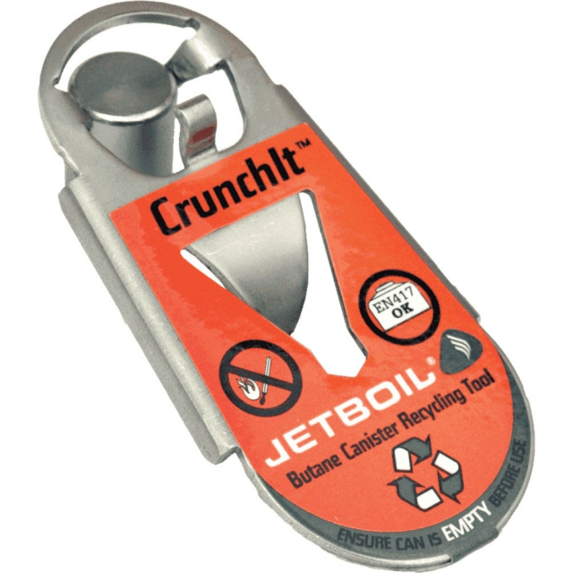 Jetboil - CrunchIt Fuel Can Recycle Tool - Light Gray/Blue