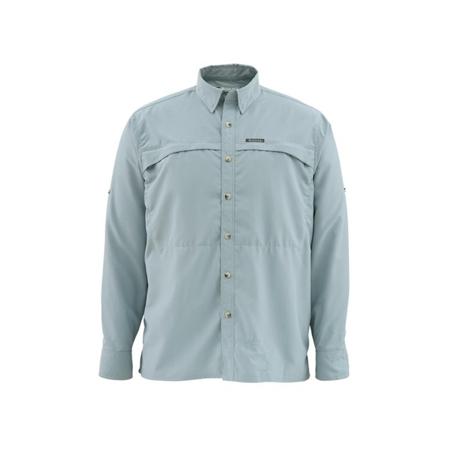 Platte River Fly Shop - Stone Cold Long Sleeve Fishing Shirt Closeout Sale - HERON,S