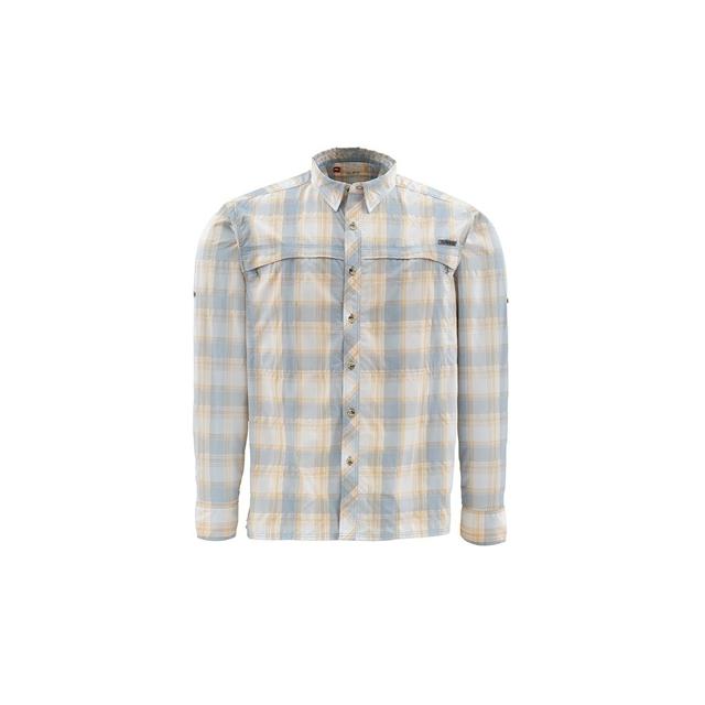 Platte River Fly Shop - Stone Cold Long Sleeve Fishing Shirt Closeout Sale - SLATE BLUE PLAID,S