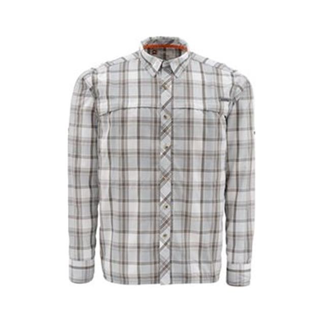 Platte River Fly Shop - Simms Stone Cold Long Sleeve Shirt Closeout Sale - Moonstone Plaid,S