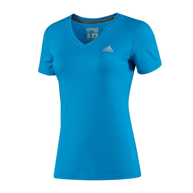 Adidas - W Ultimate S/S V-Neck - Solar Blue