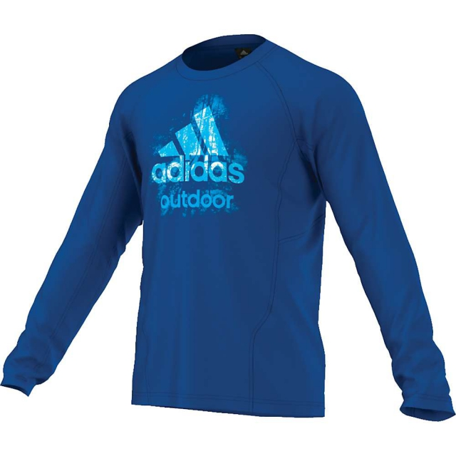 Adidas - Men's Hiking Dri Release Logo Long Sleeve Tee
