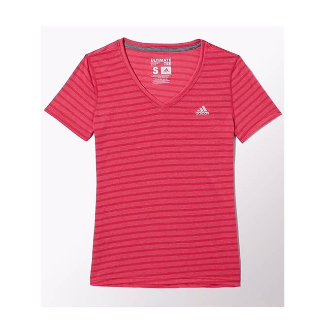 Adidas - - W Ultimate Short Sleeve V-Neck