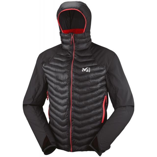 Millet - mens hybrid langtang down hoodie black/ noir