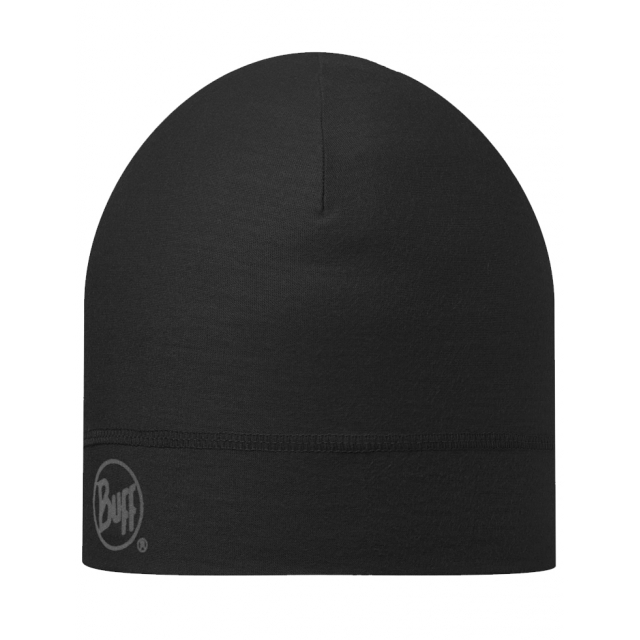 Buff - Coolmax Hat Black