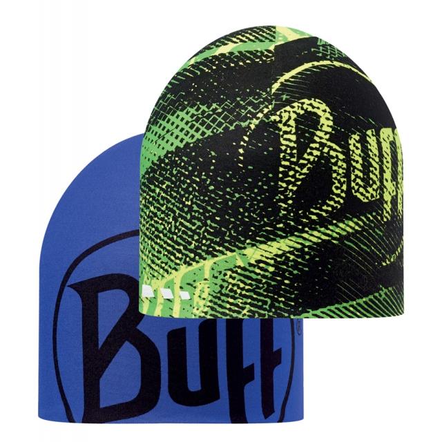 Buff - Coolmax Reversible Hat R-Flash Logo Yellow Fluor/Blue Ink