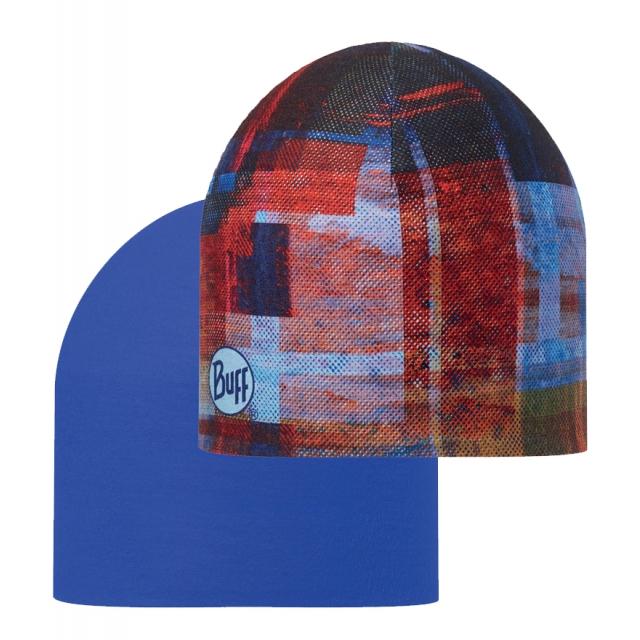 Buff - Coolmax Reversible Hat Kan/Blue Ink