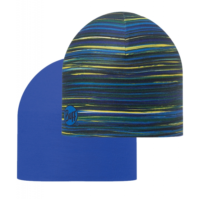 Buff - Coolmax Reversible Hat Jabe/Blue Ink