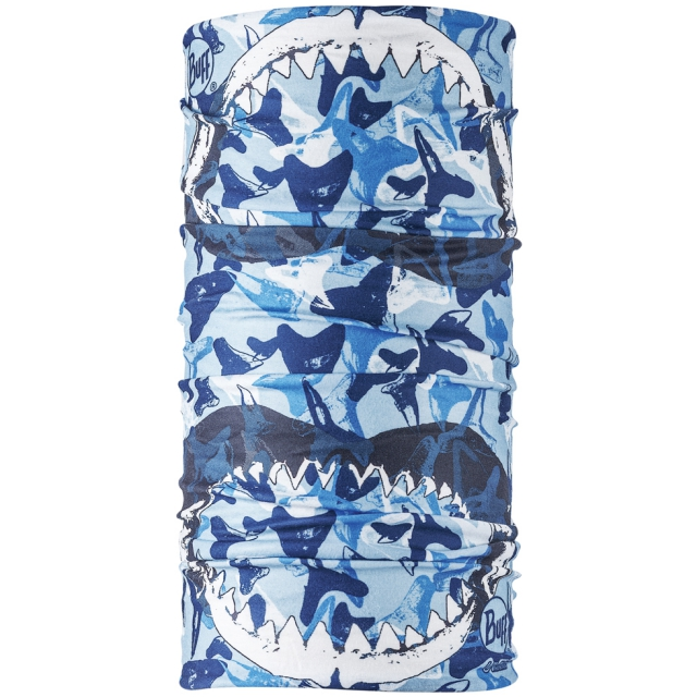 Buff - UV  Megalodon Teeth Camo Blue