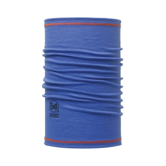 Buff - Merino Wool 3/4  Blue Ink