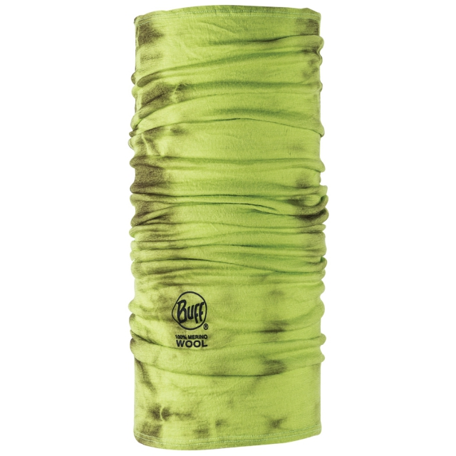 Buff - - PRINTED MERINO WOOL BUFF - XX - Lime Dye
