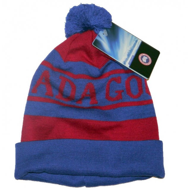 Canada Goose - - Logo Pom Hat - OS - Blue/Red