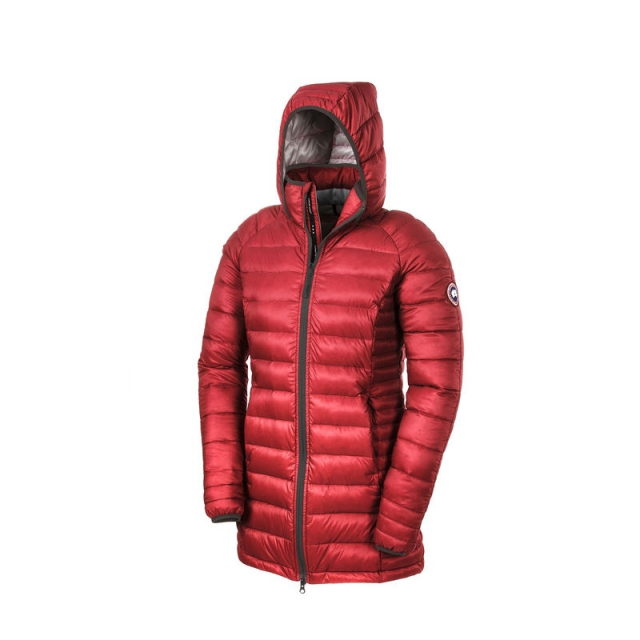 Canada Goose - Ladies Brookvale Hooded Coat - Closeout Torch Large