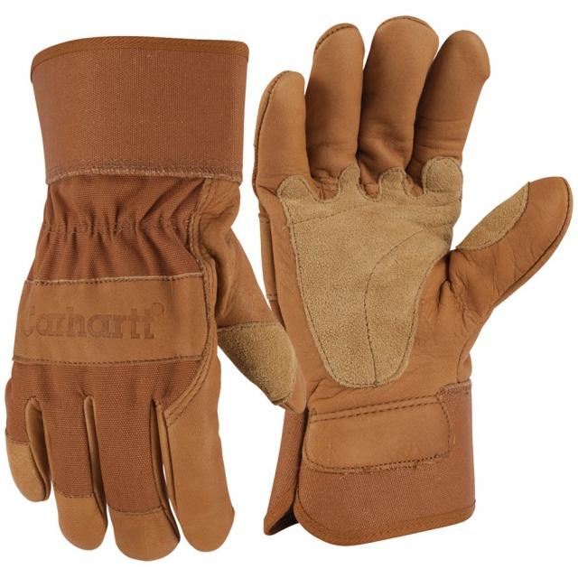 Carhartt - Men's A518 Grain Leather Work Glove Brown
