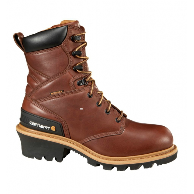 "Carhartt - Men's 8"" Redwood Waterproof Logger Boot/Non-Safety Toe Redwood"