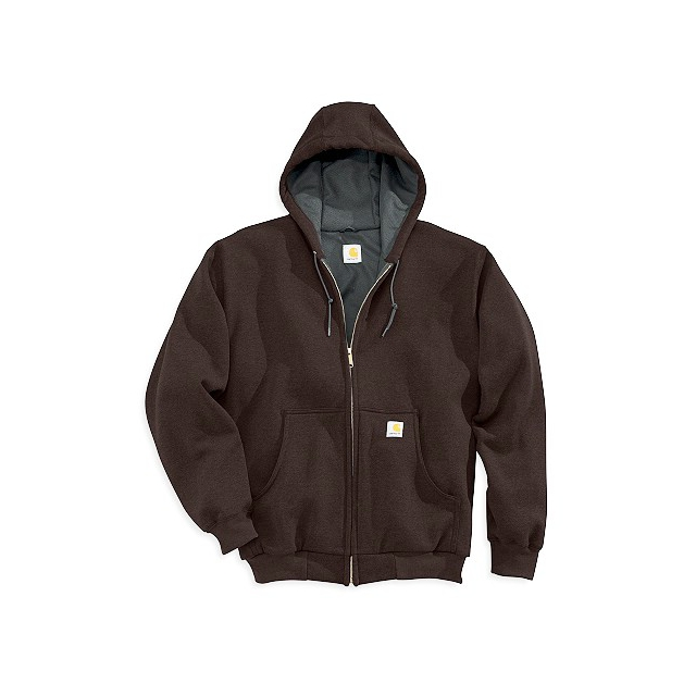 Carhartt - Men's J149 Thermal-Lined Hooded Zip-Front Sweatshirt Dark Brown M