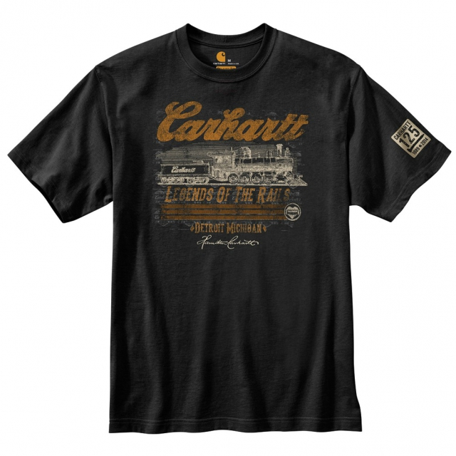 "Carhartt - Men's 125th Anniversary ""Legends of the Rails"" S/S T-Shirt Black"