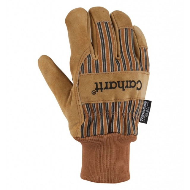 Carhartt - Men's Suede Work Knit Cuff Glove Brown