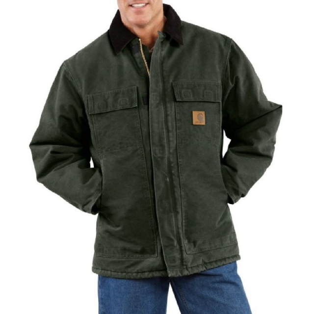 Carhartt - Men's Sandstone Traditional Coat/Arctic Quilt-Lined Jacket