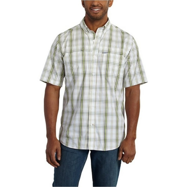 Carhartt - Men's Force Mandan Button-Down Short-Sleeve Plaid Shirt