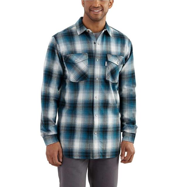 Carhartt - Men's Trumbull Snap Front Plaid Shirt
