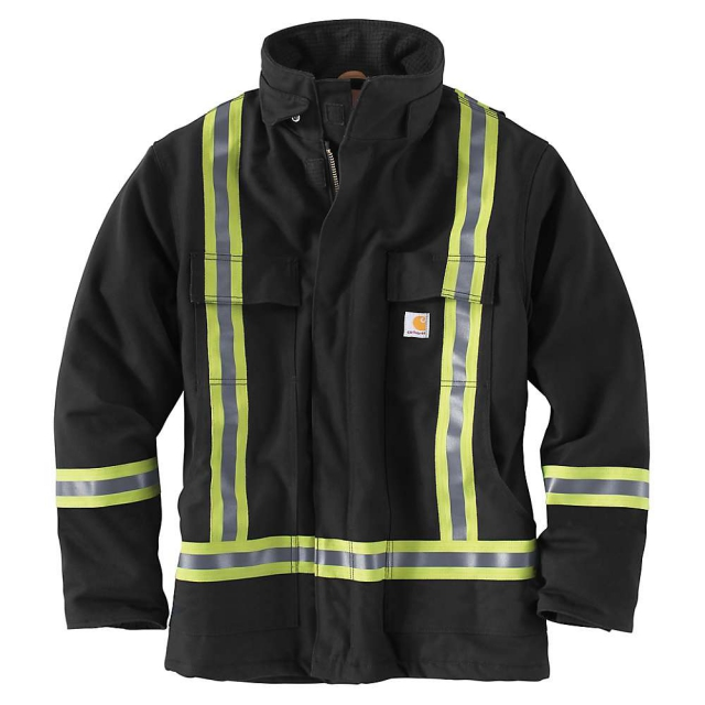 Carhartt - Men's Hight-Visibility Striped Duck Traditional Coat