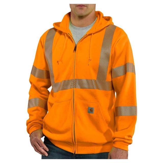 Carhartt - Men's Hight-Visibility Zip Front Class 3 Sweatshirt