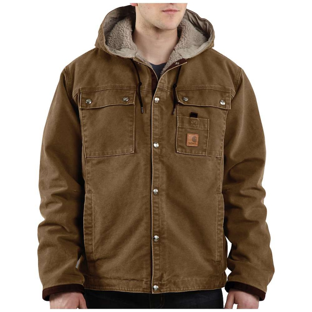 Carhartt - Men's Sandstone Hooded Multi-Pocket Jacket