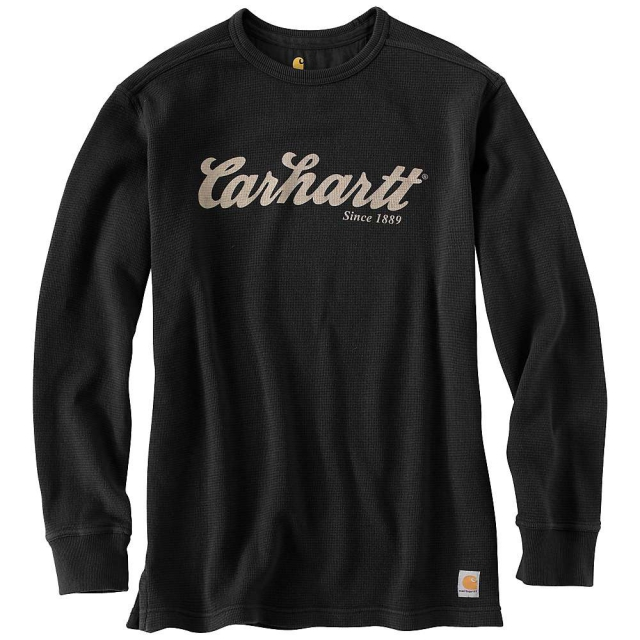 Carhartt - Men's Textured Knit Script Graphic Crewneck Top
