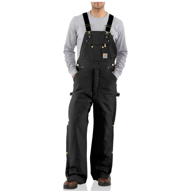 Carhartt - Men's Quilt Lined Zip To Thigh Bib Overall