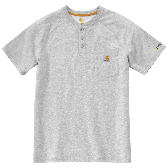 Carhartt - Men's Force Cotton Short Sleeve Henley Shirt