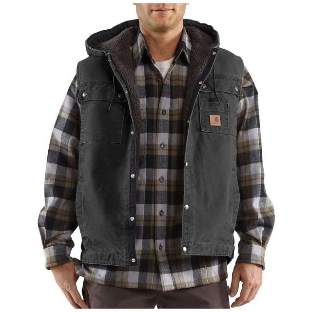 Carhartt - Men's Sandstone Hooded Multi Pocket Vest