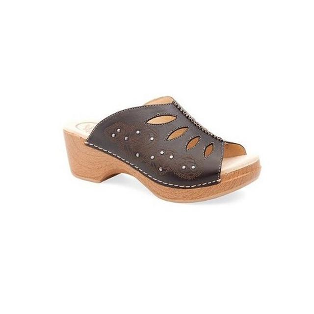 Dansko - Women's Sheri-Black Full Grain Sandal