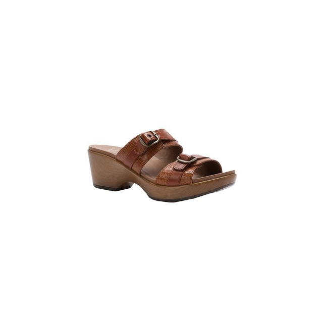 Dansko - Jessie Sandal - Women's-Caramel Croc Leather-41
