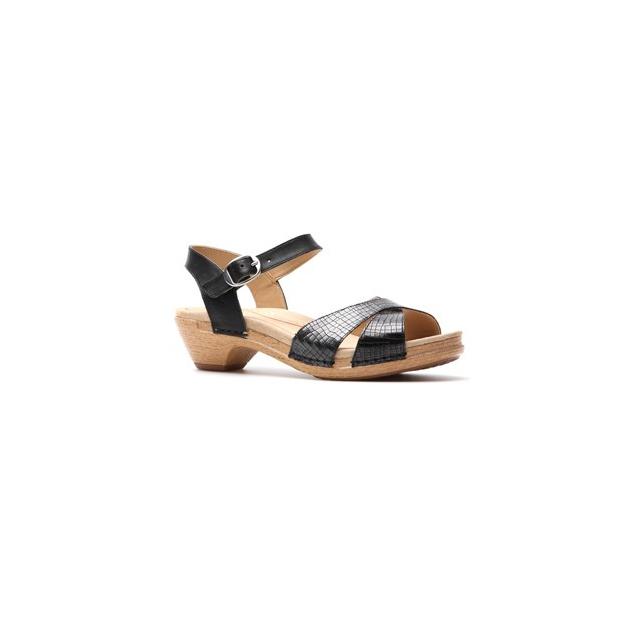 Dansko - Larissa Shoe - Women's-Black Croc Leather-41