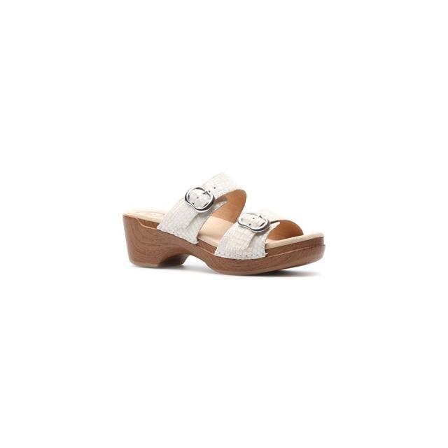 Dansko - Sophie Sandal - Women's-White Croc Leather-40
