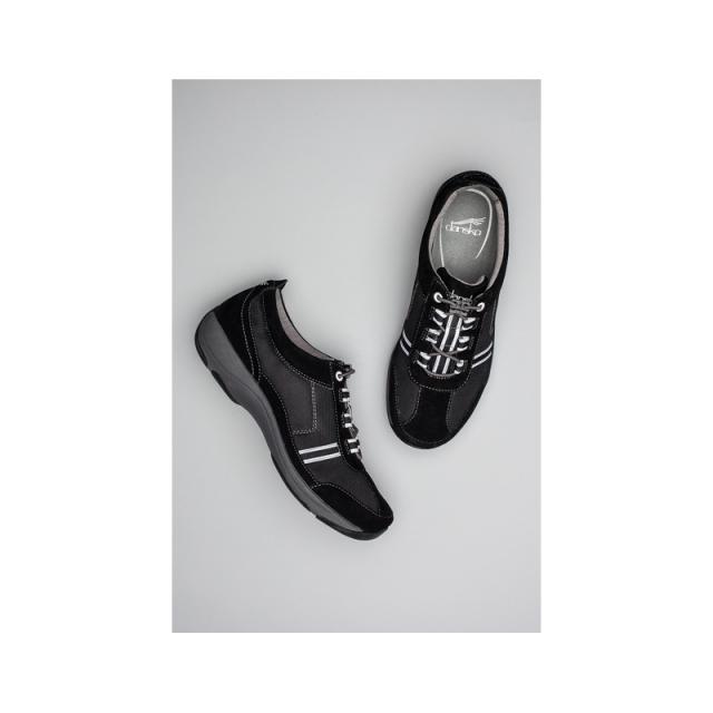 Dansko - Helen - Closeout Black/White Suede 38