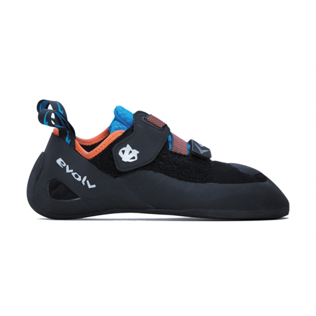 Evolv - Kronos Climbing Shoe Mens - Black / Orange 12