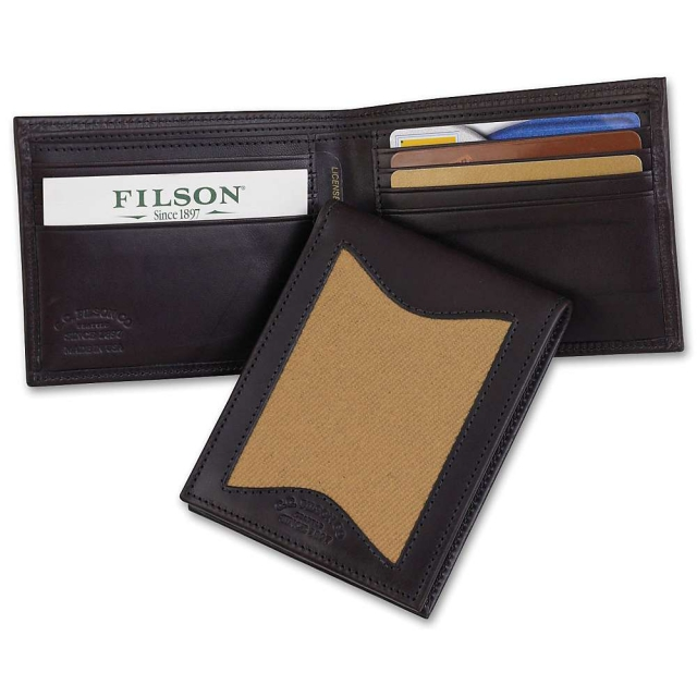 Filson - Leather and Twill Outfitter Wallet