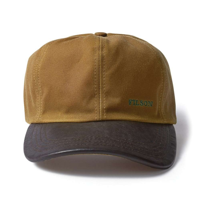 Filson - Tin Cloth and Leather Cap