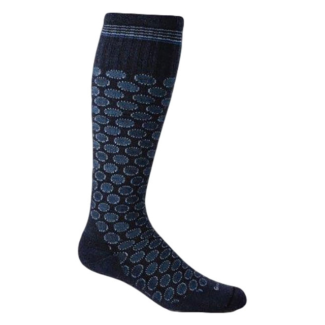 Goodhew - Shadow Dot Compression Sock Womens - Navy S/M