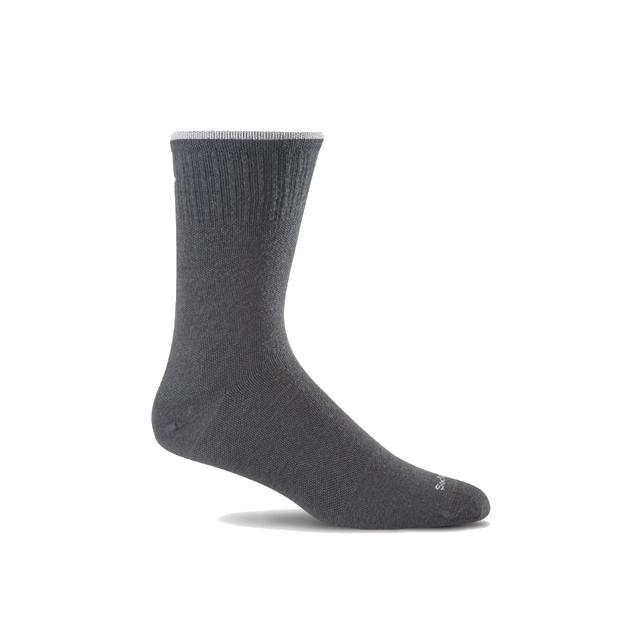 Goodhew - Plantar Ease Crew Sock  Womens - Black 2 Stripe S/M