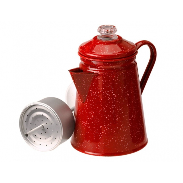 GSI Outdoors - Enamelware 8 Cup Percolator - Red Red