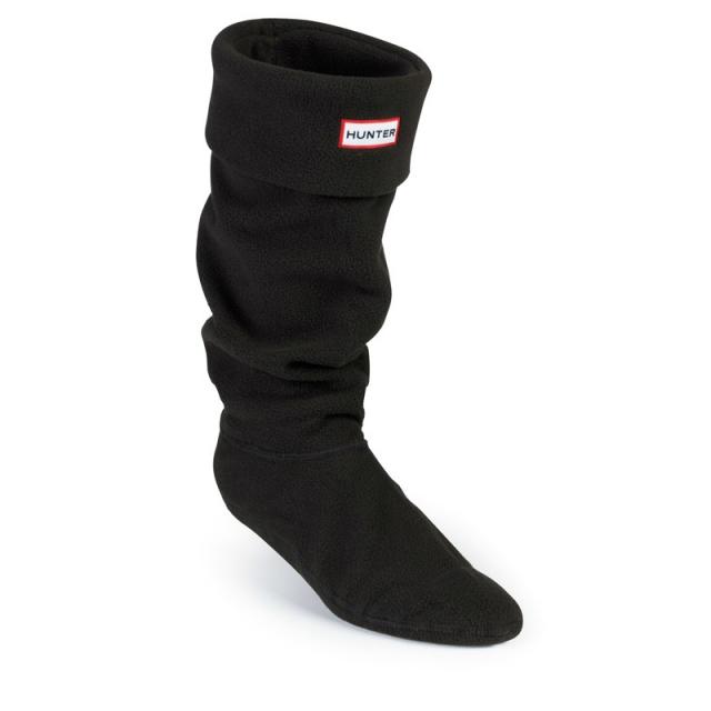 Hunter - Women's Fleece Welly Socks Green