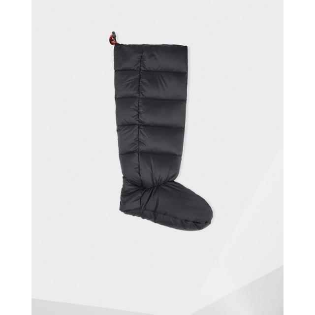 Hunter - Down-Filled Boot Sock Black Large