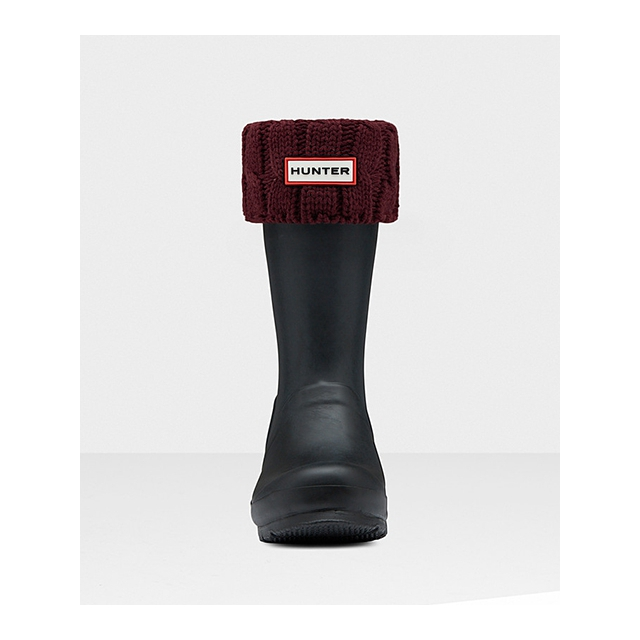 Hunter - - 6 Stitch Cable Short Boot Sock