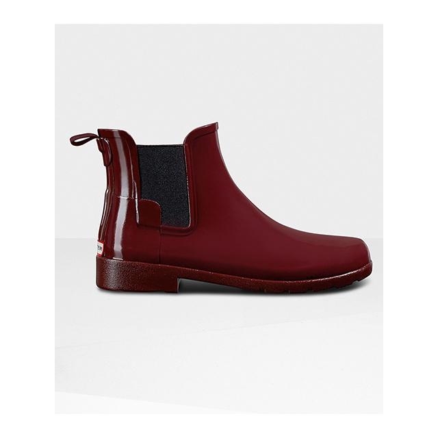 Hunter - - Refined Chelsea Gloss Boot