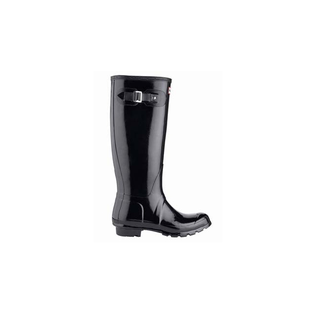 Hunter - Hunter Original Gloss Tall Rain Boot - Women's-Black-10