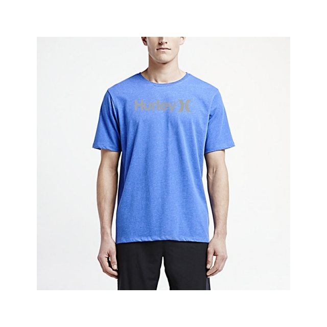 Hurley - Mens One & Only Dri-Blend Tee - Closeout Heather Sport Blue