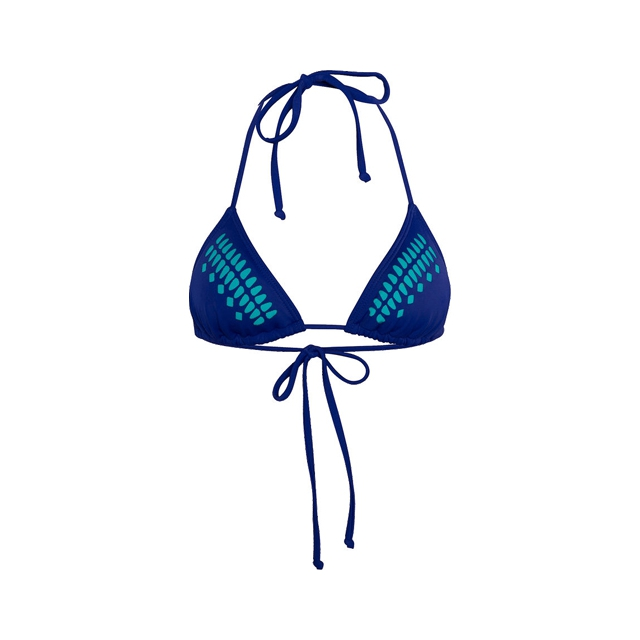 Hurley - One and Only Triangle Bra Bikini Top - Women's: Blue, Small